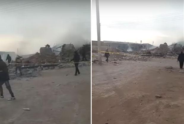 ВЖанаозене из-за взрыва газа обрушился дом