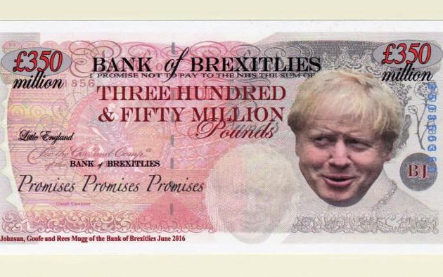 В Британском музее появились пародийные банкноты, посвященные Brexit