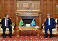 Президенты Казахстана и Туркменистана провели переговоры